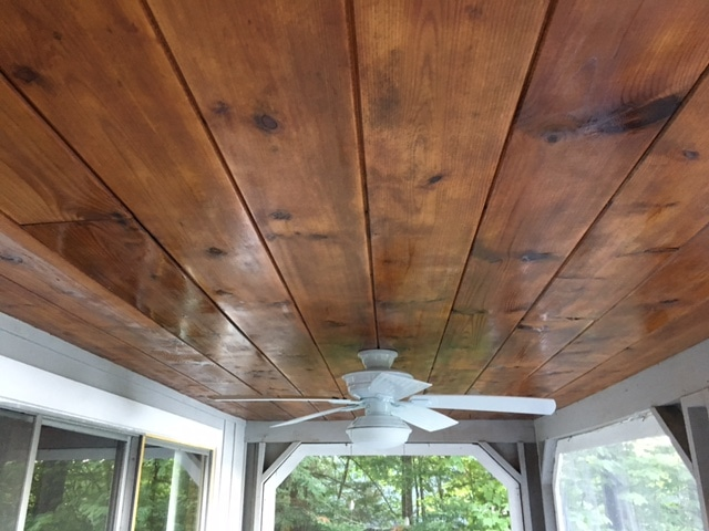 wood ceiling restoration